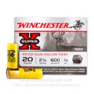 "20 ga - 2-3/4"" HP Rifled Slug - Winchester Super-X - 5 Rounds"