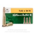 7.62x54R - 180 Grain SP - Sellier & Bellot - 20 Rounds