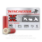 "16 Gauge - 2-3/4"" 1-1/8oz. #6 Shot - Winchester Super-X - 25 Rounds"