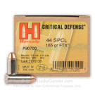 44 Special - 165 Grain FTX - Hornady Critical Defense - 20 Rounds