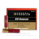 "410 Bore - 2-1/2"" #4 Shot - Federal - 20 Rounds"