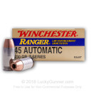 45 ACP - 230 gr JHP - Winchester Ranger T-Series - 50 Rounds