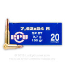 7.62x54r  - 150 Grain SP-BT - Prvi Partizan - 20 Rounds