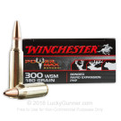 300 Winchester Short Magnum - 180 Grain Protected Hollow Point - Winchester Power Max Bonded - 20 Rounds