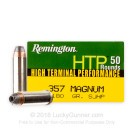357 Mag - 180 gr SJHP - Remington HTP - 50 Rounds
