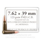 7.62x39 - 123 Grain FMJ - WOLF - 1000 Rounds