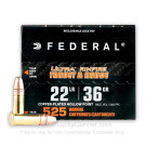 22 LR - 36 Grain CPHP - Federal Ultra - 5250 Rounds