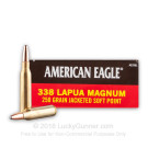 338 Lapua Magnum - 250 Grain SP - Federal American Eagle - 20 Rounds