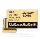 32 S&W Long - 100 gr Lead Wadcutter - Sellier & Bellot - 50 Rounds