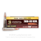 7mm-08 Rem - 140 Grain Nosler Partition SP - Federal Vital-Shok - 20 Rounds