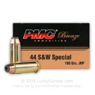 44 Special  - 180 Grain JHP - PMC - 500 Rounds