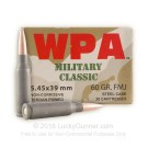 5.45x39 - 60 gr FMJ - Wolf WPA Military Classic - 750 Rounds