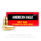 357 Sig - 125 Grain FMJ - Federal American Eagle - 1000 Rounds