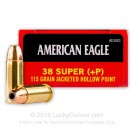 38 Super - 115 Grain JHP - Federal American Eagle - 50 Rounds