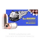 9mm Makarov - 94 Grain JHP - Silver Bear - 50 Rounds