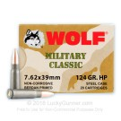 7.62x39 - 124 gr HP - WOLF WPA MC - 1000 Rounds