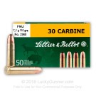 30 Carbine - 110 Grain FMJ - Sellier & Bellot - 50 Rounds