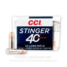 22 LR - 32 Grain CPHP - CCI Stinger - 500 Rounds