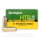 41 Mag - 210 Grain Semi-Jacketed Soft Point - Remington HTP - 50 Rounds