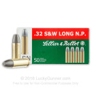 32 S&W Long - 100 Grain LRN - Sellier & Bellot - 50 Rounds