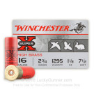 "16 Gauge - 2-3/4"" 1-1/8 oz. #7.5 Shot - Winchester Super-X High Brass Game Loads - 25 Rounds"