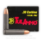 30 Carbine - 110 Grain FMJ - Tula - 1000 Rounds