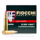 204 Ruger  - 32 gr Vmax - Fiocchi - 50 Rounds