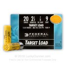"20 ga - 2-3/4"" Lead Shot Target Load - 7/8 oz. -  #9 - Federal Top Gun - 250 Rounds"