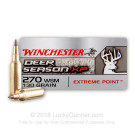 270 WSM - 130 Grain Polymer Tipped - Winchester Deer Season XP - 20 Rounds