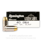 40 S&W - 180 gr BJHP - Remington Golden Saber - 500 Rounds