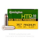 357 Mag - 158 gr SJHP - Remington HTP - 50 Rounds