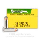 38 Special - 110 Grain SJHP - Remington Express - 500 Rounds