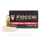 32 S&W Long - 97 Grain FMJ - Fiocchi - 50 Rounds