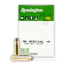 38 Special + P - 125 Grain SJHP - Remington UMC- 600 Rounds