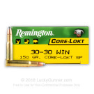 30-30 - 150 Grain SP - Remington Core-Lokt - 200 Rounds