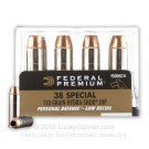38 Special - 110 Grain JHP - Federal Hydra-Shok Low Recoil - 200 Rounds