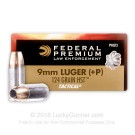 9mm - +P 124 Grain JHP - Federal LE Tactical HST - 1000 Rounds