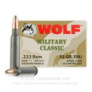 223 Rem - 55 Grain FMJ - Wolf WPA MC - 500 Rounds
