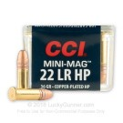 22 LR - 36 Grain CPHP - CCI Mini-Mag - 5000 Rounds