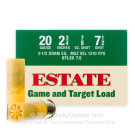 "20 ga - 2-3/4"" Lead Shot Game and Target Load - 7/8 oz - #7.5 - Estate - 25 Rounds"