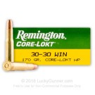 30-30 - 170 gr HP - Remington Core-Lokt - 20 Rounds