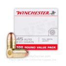 45 ACP - 230 Grain FMJ - Winchester USA - 500 Rounds