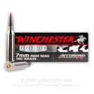 7mm Remington Mag - 160 Grain Accubond PT - Winchester Supreme - 20 Rounds