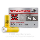 "20 Gauge - 2-3/4"" #8 Shot - Winchester Super-X - 250 Rounds"