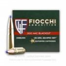 300 AAC Blackout - 125 Grain SST - Fiocchi Extrema - 500 Rounds