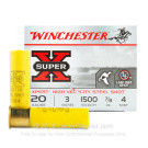 "20 Gauge - 3"" 7/8 oz. #4 Steel Shot - Winchester Super-X High Velocity - 25 Rounds"