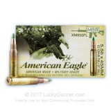 Image of Bulk Ammo For Sale - 62 Grain FMJ Ammunition in Stock by Federal American Eagle - 500 Rounds