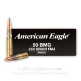 Image of 50 Cal BMG Federal American Eagle Ammo For Sale - 660 grain FMJ Ammunition in Stock - 100 Rounds