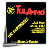 Image of Bulk Tula 223 Rem Ammo For Sale - 55 grain FMJ Ammunition In Stock - 1000 Rounds