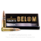 Image of Bulk 7.62x39 Ammo For Sale - 123 Grain FMJ Ammunition in Stock by Belom - 480 Rounds